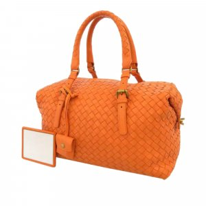 Bottega Veneta Intrecciato Lambskin Leather Handbag