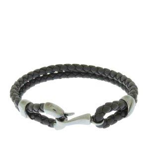 Bottega Veneta Armband zwart Leer