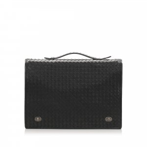 Bottega Veneta Business Bag black leather