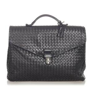 Bottega Veneta Business Bag black leather