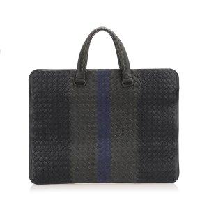 Bottega Veneta Intrecciato Leather Business Bag