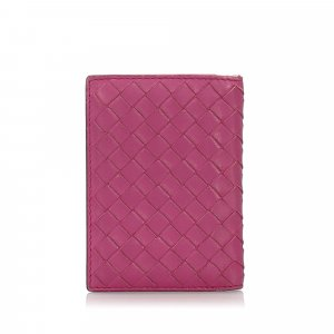 Bottega Veneta Intrecciato Leather Card Holder