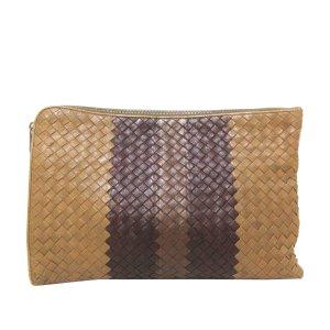 Bottega Veneta Pochette marron clair cuir
