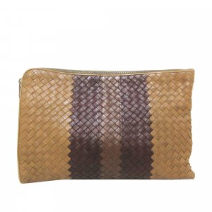 Bottega Veneta Intrecciato Leather Clutch Bag