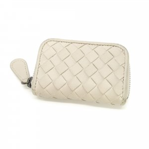 Bottega Veneta Intrecciato Leather Coin Pouch