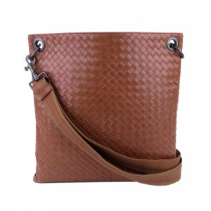 Bottega Veneta Intrecciato Leather Crossbody Bag