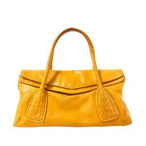 Bottega Veneta Sac à main jaune cuir