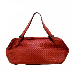 Bottega Veneta Sac à main rouge cuir