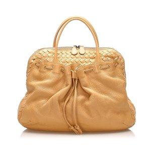 Bottega Veneta Sac à main marron clair cuir