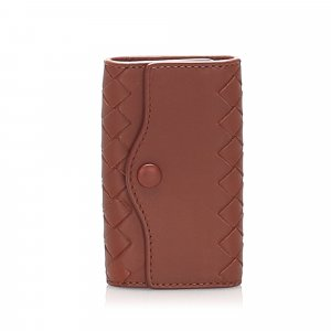 Bottega Veneta Key Case brown leather