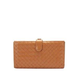 Bottega Veneta Intrecciato Leather Long Wallet