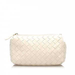 Bottega Veneta Pouch Bag white leather
