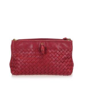 Bottega Veneta Sac porté épaule rouge cuir