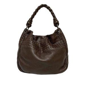 Bottega Veneta Sac porté épaule brun foncé cuir