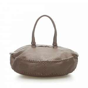 Bottega Veneta Travel Bag dark brown leather