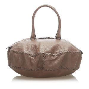 Bottega Veneta Sac de voyage brun cuir