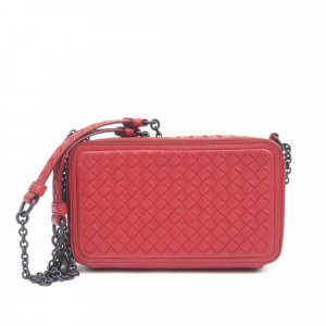 Bottega Veneta Intrecciato Leather Wallet on Chain