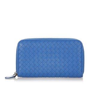 Bottega Veneta Cartera azul Cuero