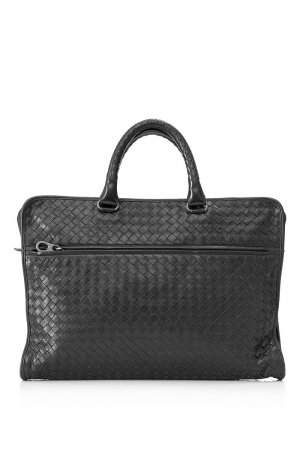 Bottega Veneta Intrecciato Light Calf Briefcase