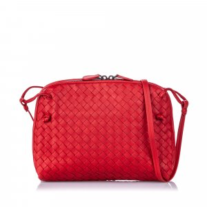 Bottega Veneta Intrecciato Nodini Leather Crossbody Bag
