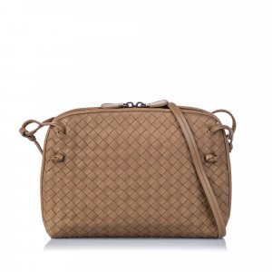 Bottega Veneta Intrecciato Nodini Leather Crossbody Bag