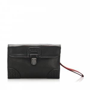 Bottega Veneta Intrecciato Perforated Leather Clutch Bag