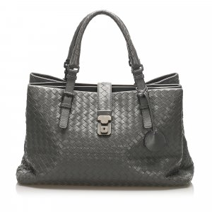 Bottega Veneta Intrecciato Roma Leather Tote Bag