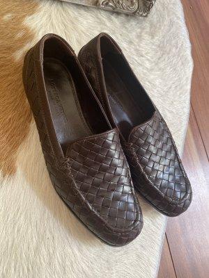 Bottega Veneta Slip-on Shoes brown-dark brown leather