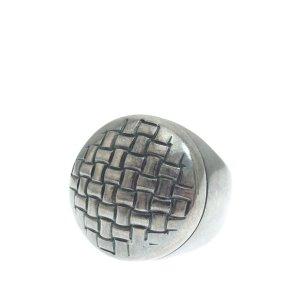 Bottega Veneta Intrecciato Silver Ring