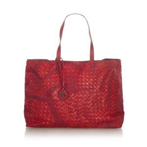 Bottega Veneta Sac fourre-tout rouge nylon