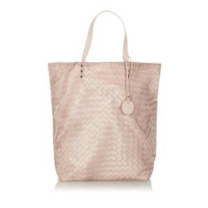 Bottega Veneta Sac fourre-tout rose clair nylon