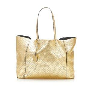 Bottega Veneta Tote gold-colored leather
