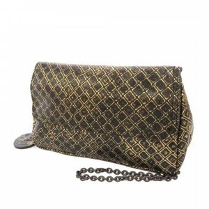 Bottega Veneta Intrecciomirage Chain Metallic Leather Crossbody Bag