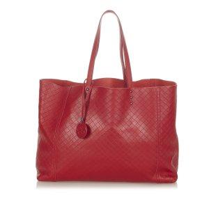 Bottega Veneta Torebka typu tote czerwony Skóra