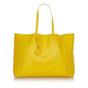 Bottega Veneta Bolso de compra amarillo Cuero
