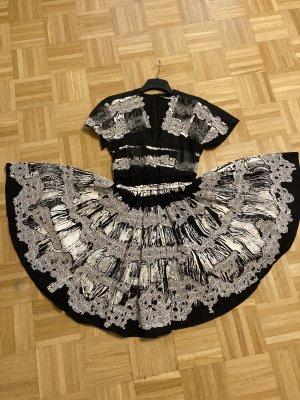 Bottega Veneta Midi-jurk zwart-wit