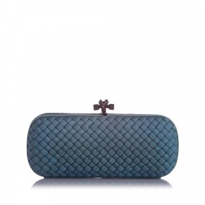 Bottega Veneta Knot Silk Clutch Bag