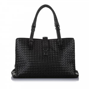 Bottega Veneta Large Roma Intrecciato Leather Tote Bag