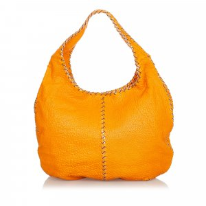 Bottega Veneta Hobos orange leather