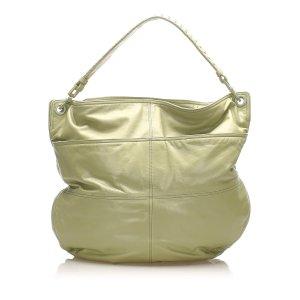 Bottega Veneta Sac porté épaule vert cuir