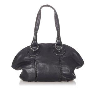 Bottega Veneta Sac porté épaule noir cuir