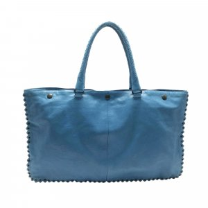 Bottega Veneta Sac fourre-tout bleu cuir