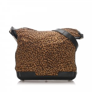 Bottega Veneta Leopard Print Shoulder Bag