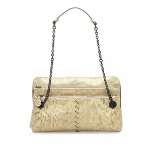 Bottega Veneta Lizard Leather Shoulder Bag