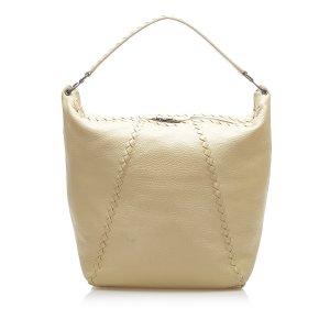 Bottega Veneta Shoulder Bag beige leather