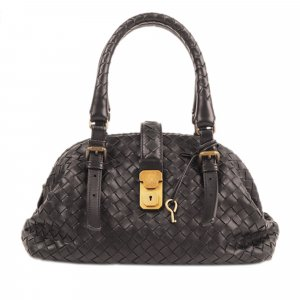 Bottega Veneta Mini Intrecciato Leather Handbag