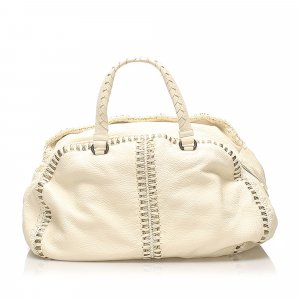 Bottega Veneta Oro Cervo Uncinetto Leather Handbag
