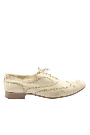 Bottega Veneta Chaussure Oxford crème style décontracté