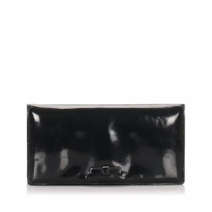 Bottega Veneta Patent Leather Clutch Bag