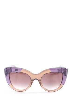 Bottega Veneta Retro Brille lila-creme Casual-Look
